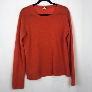 J. Crew Orange Cashmere Sweater
